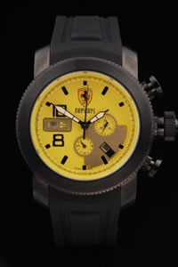 yellow and black Ferrari Watch