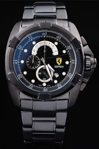 fake black ferrari watch